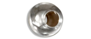 Sterling Silver 5mm High Polish Spacer Bead with 2mm Hole