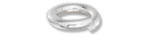 Sterling Silver 5mm Jump Rings .032 inch X 5mm (25 Pieces)
