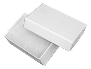 White Cotton Filled Gift Box 2 1/2 inch X 1 5/8 inch X 7/8 INCH