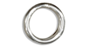 Sterling Silver 6.0 Mm Split Ring (12 Pieces)