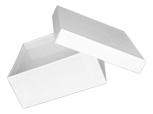 White Cotton Filled Gift Box 3 1/2 inch X 3 1/2 inch X 1 INCH