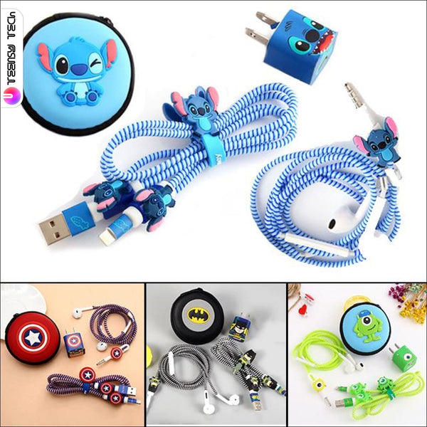 8-In-1 Iphone Earphone/charger/cable Decor Accessories Kit Phone