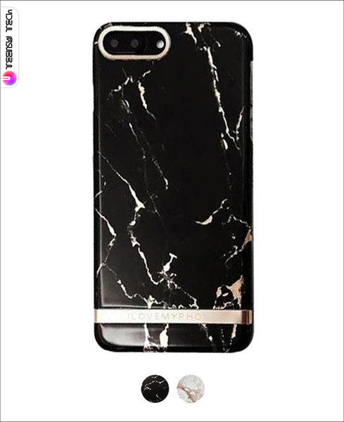 Exquisite Gold Pattern Stone Texture Hard Case Marble Iphone