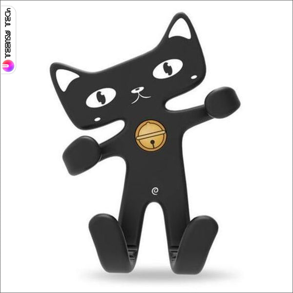 Flexible Rubber Cat Car Air Vent Phone Holder Black Holders