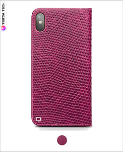 Handmade Pink Leather Flip Case Iphone Cases