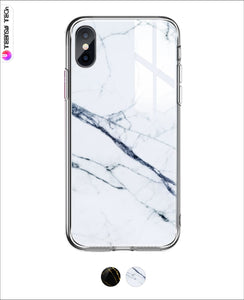 Marble Pattern Tempered Glass Case Iphone