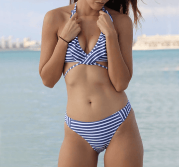 Hailey Stripe Bikini Set
