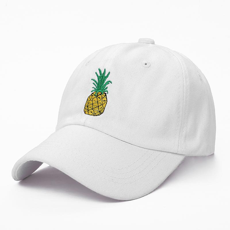 White Pineapple Dad Hat