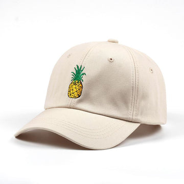 Beige Pineapple Dad Hat