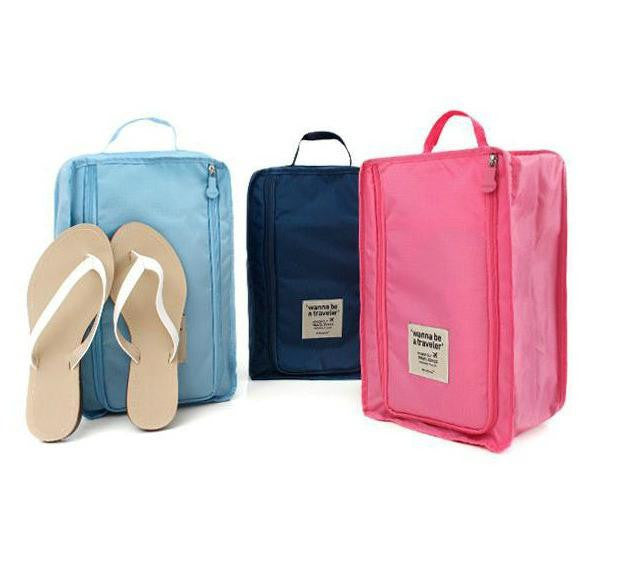 Waterproof well-ventilated organizer travel shoe bag