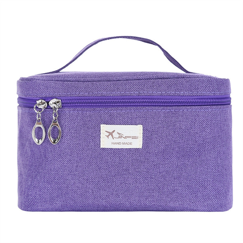 Cosmetic travel makeup organizer bag with mirror