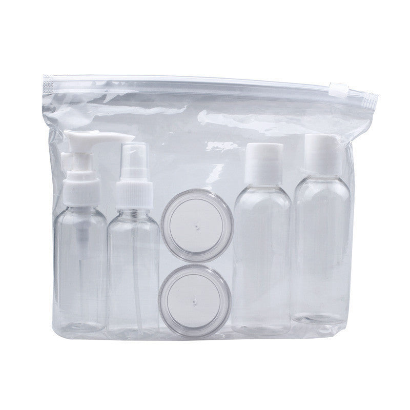 Portable transparent cosmetic travel container pack (6 pcs)