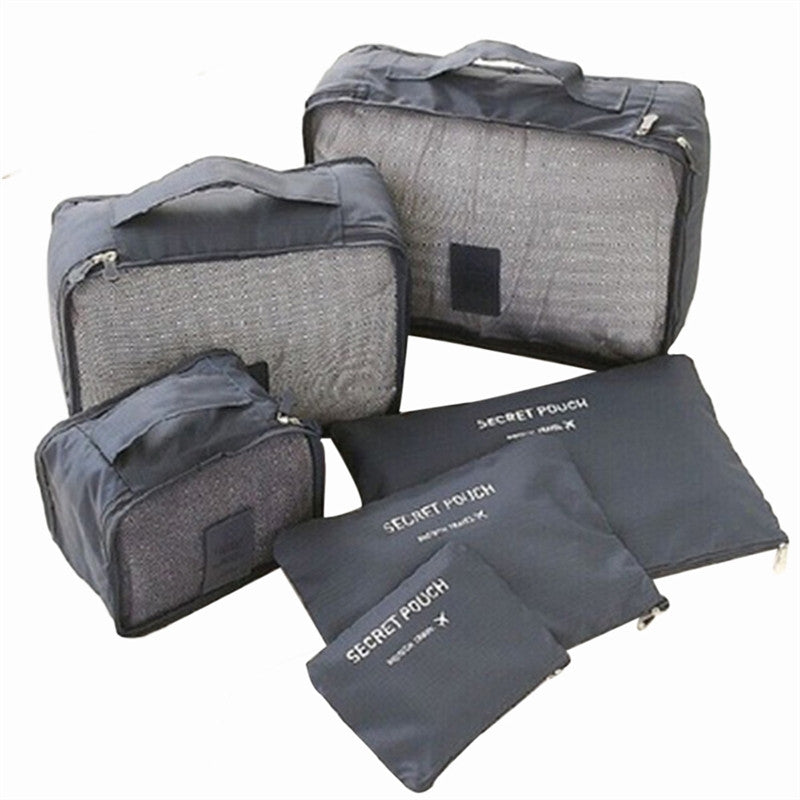 Waterproof Travel Storage Bags for Packing Clothes (6pcs)