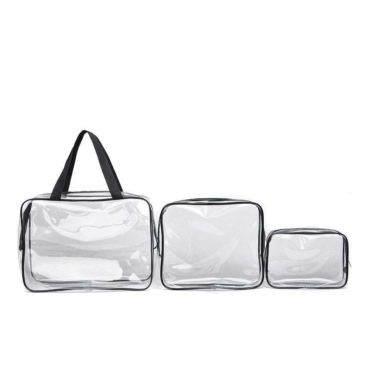 Waterproof travel toiletry or cosmetics organizer bag (set of 3)