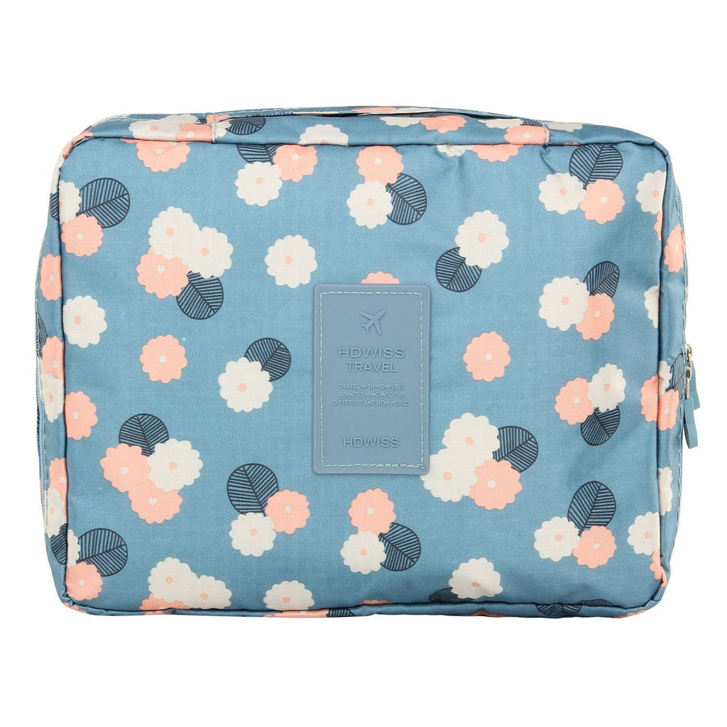 Pretty and portable multi-functional cosmetic makeup or toiletry pouch