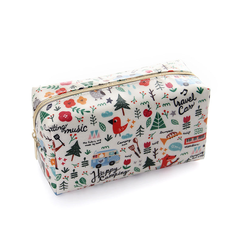 Small travel cosmetic clutch bag
