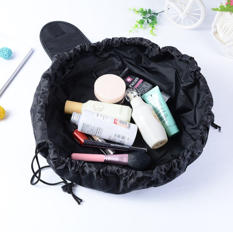 Large capacity lay-it-out cosmetic organizer bag