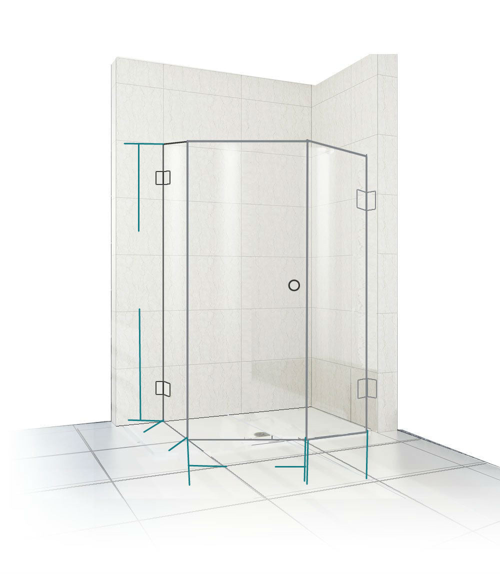 Frameless Diamond Shower Screen