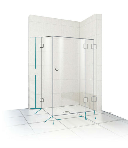 Frameless Corner Shower Screen - Showerscreen