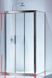 Fully Framed Sliding Showerscreen Corner - Shower Screen