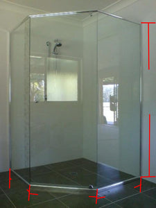 Semi Frameless Diamond Shower Screen