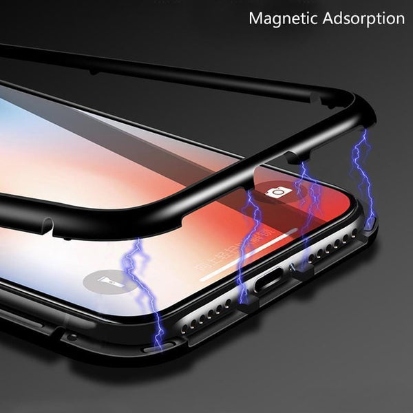 Samsung Metal Magnetic Adsorption Frame Clear Tempered Glass