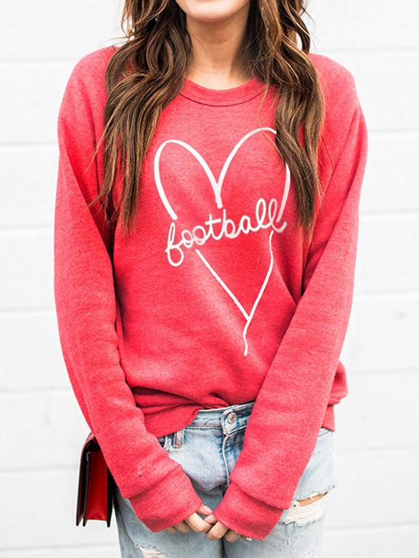 Football In My Heart Game Day Sweatshirts