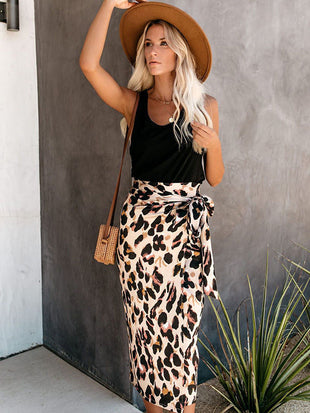 New Design Wilde Leopard Wrap Skirt