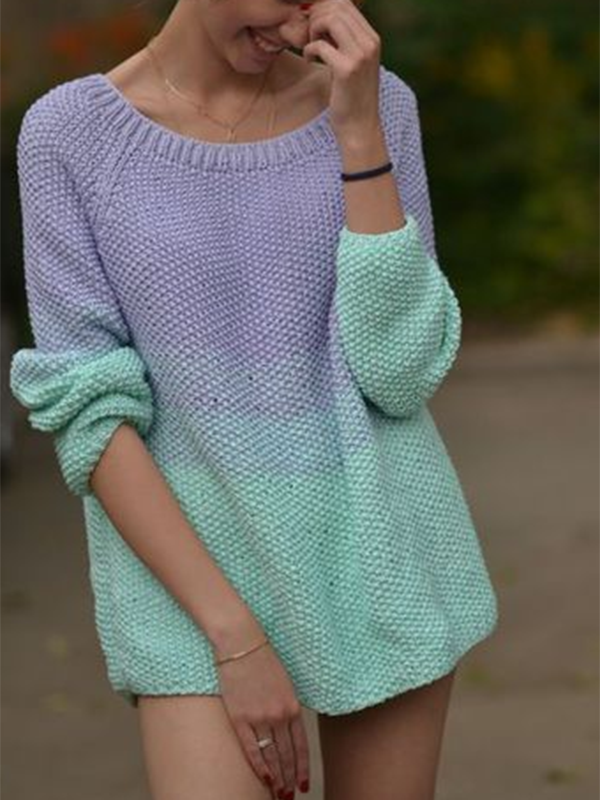 Women's Mint Women's Colorblock Sweater