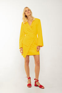 Wrap Around Blazer Dress