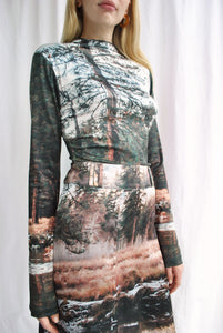 Silky Nature Forage Print Second Skin Top