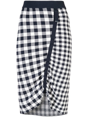 Gingham Knit Skirt