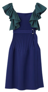 Pleated Parachute Dress