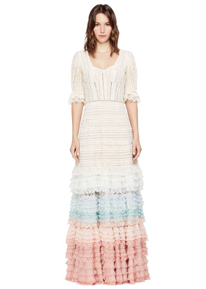 Knit Lace Maxi Dress