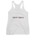 Women's Squat Goals Racerback Tank