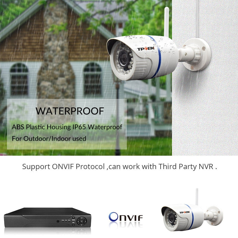 HD Home Security/Surveillance Camera, WiFi, Bullet