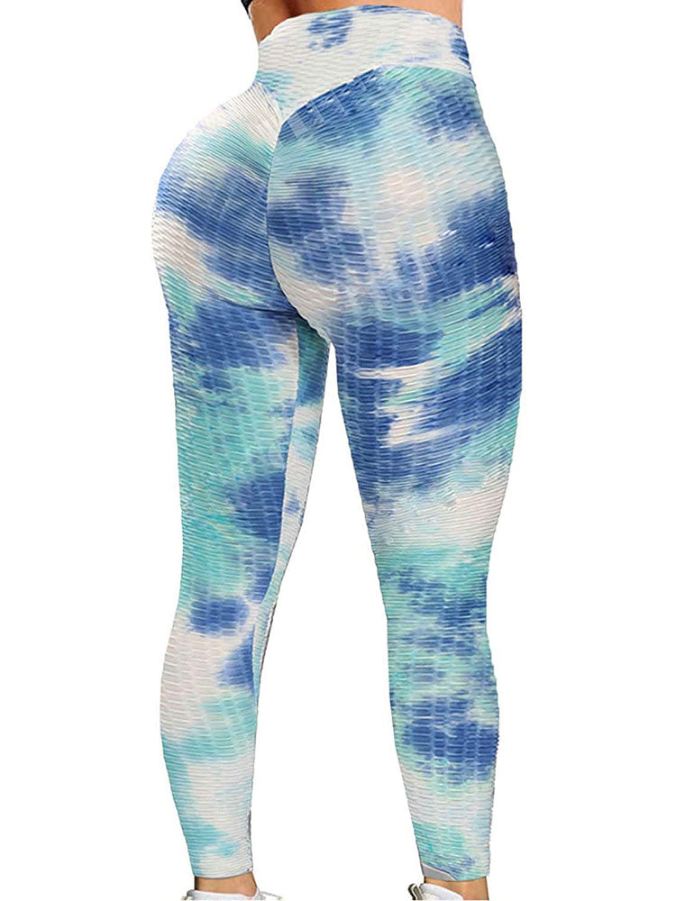 Anti-Cellulite Tie-dye Sports Leggings