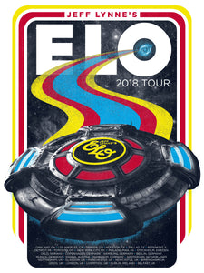 Jeff Lynne's ELO 2018 Screenprint