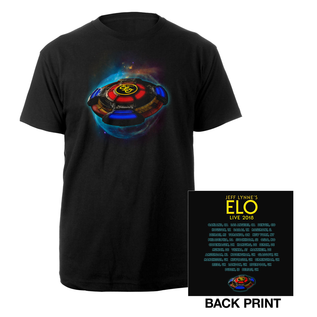 Jeff Lynne's ELO 2018 Tour Black Shirt