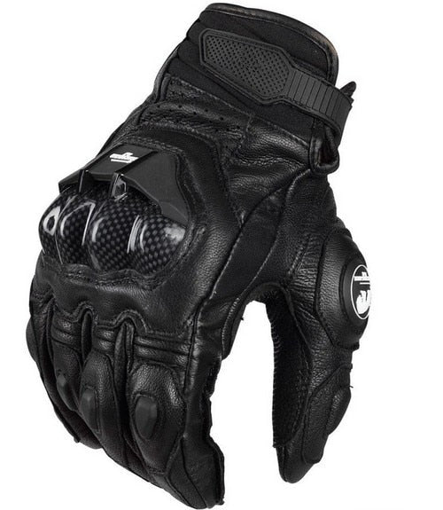 Men's Leather Gloves AFS6 Motorcycle Protective Gloves Racing Cross Country Gloves