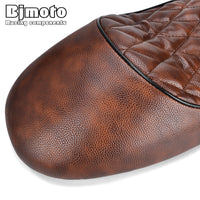 Motorcycle Leather Vintage Cafe Racer Seat Retro Saddle Brown For Honda CB CL Retro Cafe Racer CB200 CB350 CB400