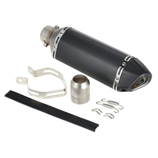 New 38-51mm Carbon Fiber Motorcycle Exhaust Pipe Black Motorbike Muffler Functional Modification Accessory XLJ235-SW03