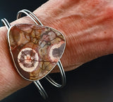 Wild in the Woods Mushroom Rhyolite Statement Cuff