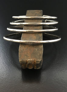 Sterling Silver Hatched Stacking Cuffs
