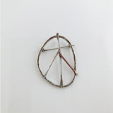 Large Sterling & Copper Peace Symbol Pin