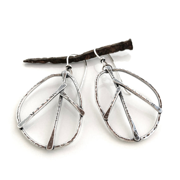 Peace symbol earrings