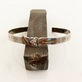 Scrappy Sterling & Copper Cuff #2 - Standard size