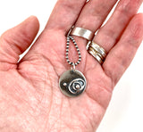 "Outer Zones Sterling Necklace #2 on a 20"" Sterling Ball Chain"