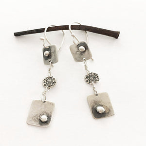 Sterling 3-Tiered Dangle Earrings