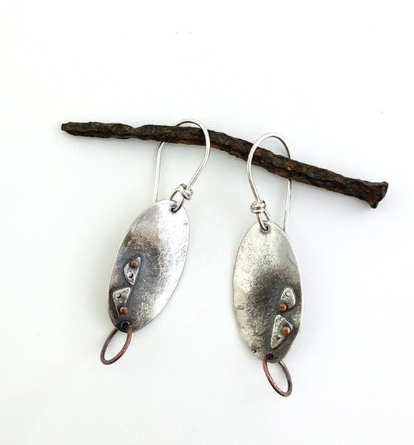 Equal Footing Sterling & Copper earrings